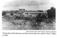 Fort Owen Flour Mill, 1885