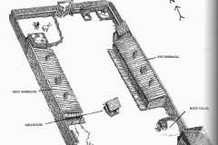 Diagram of Fort Owen, 1860
